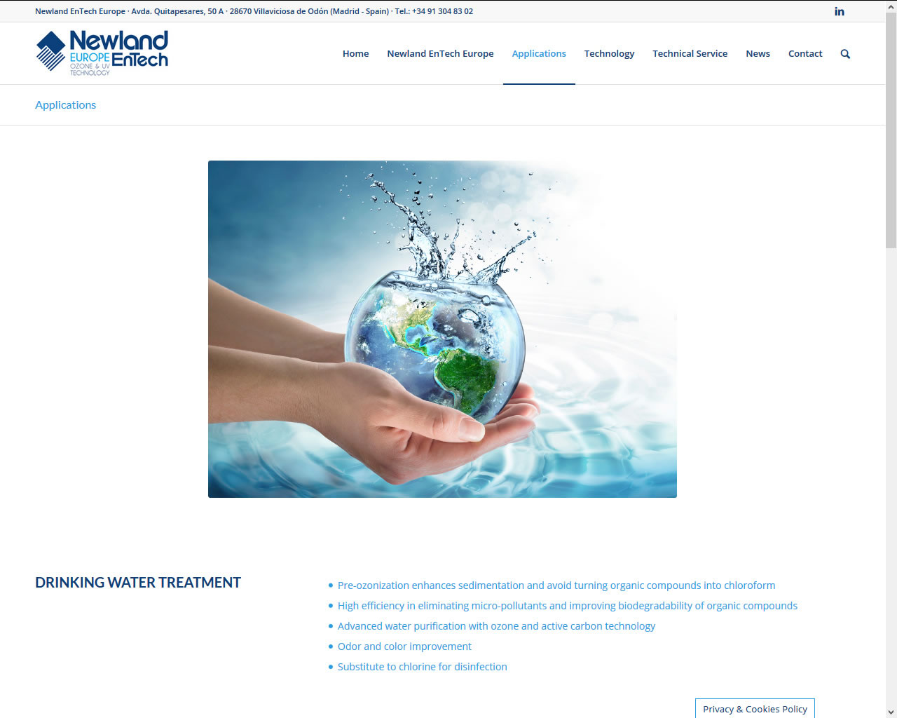 Proyectos - Newland EnTech Europe