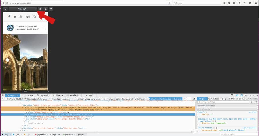 Prueba Responsive Firefox